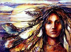 Native American Indian Women | Golden Girl, abstract, american indian girl, indian, native girl ...
