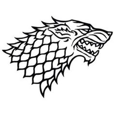 HOUSE STARK DIREWOLF GAME OF THRONES DECAL VINYL CAR LAPTOP WINDOW WALL STICKER