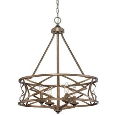 View the Millennium Lighting 2174-VG Vintage Gold Lakewood 4 Light 1 Tier Drum Chandelier at Build.com.