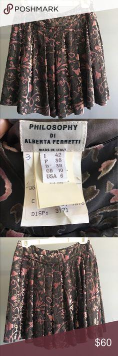 Philosophy Di Alberta Ferretti Skirt High Fashion Philosophy Di Alberta Ferretti Purple Skirt. Great condition! Velvet grey and purple. Philosophy di Alberta Ferretti Skirts Mini