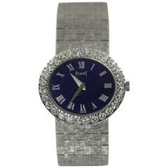 GABRIELLE'S AMAZING FANTASY CLOSET | Piaget Ladies White Gold Diamond Lapis Lazuli Dial Roman Numeral Wristwatch | Saved for Future Outfits in Gabrielle's Amazing Fantasy Closet
