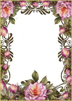 PSD.Frame.Flowers.Roses.4122x5768