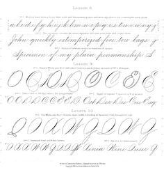 The 1879 Spencerian Compendium of Penmanship in PDF Format | The FontFeed