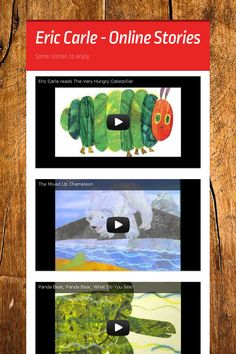 Eric Carle - Online Stories smore for 1st grade