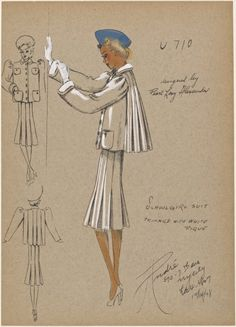 1930s - André - Schoolgirl suit. From New York Public Library Digital Collections.