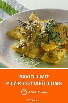 Ricotta Filling Recipe, Ricotta Ravioli, Stuffed Mushrooms, Stuffed Peppers, Date Dinner, Pesto Pasta, Food Shows, Tortellini, Vegetarian Cheese