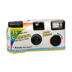 General Brand 35mm Disposable Camera (with Flash) ASA 400 27 Exposure ($14) ❤ liked on Polyvore featuring fillers, camera, electronics, items and other