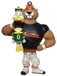 Benny the Beaver, Oregon State Beavers mascot, goes Oregon Duck hunting.