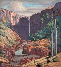 PIERNEEF Art Pictures, Art Images, Art Pics, African Paintings, South African Artists, Africa Art, Love Art, Illustrations Posters, Landscape Paintings