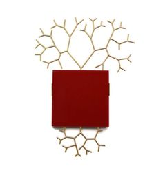 Paula Crespo Brooch: Untitled, 2013 Gold, reconstructed coral