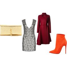 A fashion look from May 2014 featuring short sequin cocktail dresses, red flare coat and ankle boots. Browse and shop related looks. Red Flare, Sequin Cocktail Dress, Ankle Boots, Fashion Looks, Sequins, My Style, Coat, Shopping, Dresses