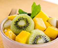 Kiwi contains Vitamin C which helps maintain collagen in skin, keeping it firm. Plus, it's delicious!