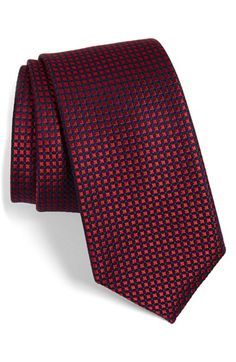 Men's Calibrate 'Neo Classic One' Grid Silk Tie
