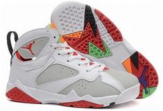 "huge selection of 88a69 43af4 2015 Air Jordan 7 Retro ""Hare"" White Light Silver-True Red For Sale from  Reliable Big Discount! 2015 Air Jordan 7 Retro ""Hare"" White Light  Silver-True Red ..."