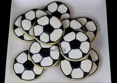Soccer sugar decorated cookies