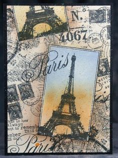 Club Scrap's Postcards from Paris Unmounted Rubber