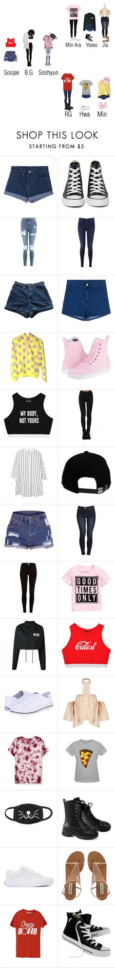 """""""I'm back with my members now ~BG"""" by rexanne-official ❤ liked on Polyvore featuring Converse, Topshop, 7 For All Mankind, American Apparel, Dr. Martens, Minga, MANGO, Brixton, River Island and Hood by Air"""