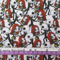skull fabric, Los Meurtos, Halloween, day of the dead, Nightmare before Christmas, Jack Skelington