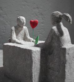 A tavola - sculpture by Giovanni Garlanda