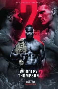 Woodley vs Thompson 2 poster by Boxing Posters, Sports Posters, Football Posters, Movie Posters, Sports Advertising, Sports Graphic Design, Graphic Art, Sports Graphics, Fitness Design