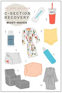 xo, mrs measom: c-section recovery must haves