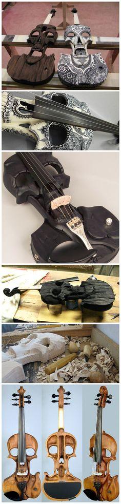Skull Violin; Stratton Violin