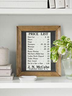 Barbershop Antiques - Barber Shop Price List - ideas!