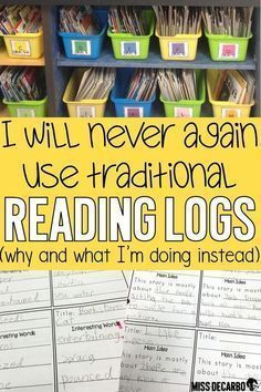 Check out why I stopped using traditional reading logs in my classroom, and learn how I changed the format of the reading log to make it intentional for comprehension and nightly reading. education Reading Logs for Comprehension and Nightly Reading Reading Homework, Reading Workshop, Kindergarten Reading Log, Reading Journals, Reading School, Reading Intervention Classroom, Home Reading Log, Weekly Reading Logs, Reading Programs For Kids