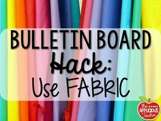 use fabric instead o