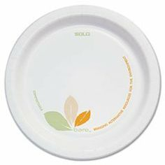 Solo Cup OFMP6J7234 Bare Paper Dinnerware, 6 in. Plate, Green/Tan, 500/Carton by SOLO Cup Company. $28.87. Durable clay coated paper dinnerware resists cuts and soak-through. Made with renewable resources and is compostable