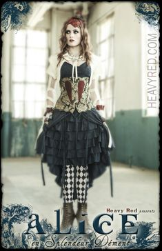 Nice Alice costume.  Similar to one I have in my head, just not close enough.  I like the jacket's detail and how it makes you think of a straight-jacket.  Very nice detail work!