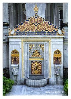 Water Fountain, Topkapi Palace, Istanbul. I've seen this in person, it's so beautiful!