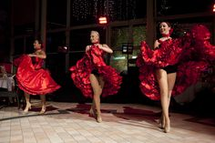 Authentic Can Can dancers are an essential part of a Moulin Rouge themed event!