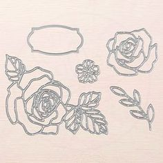 and Thinlits Measurements (Current Stampin' Up! Rose Garden Thinlits Dies measurements shared by Dawn ThomasStampin' Up! Rose Garden Thinlits Dies measurements shared by Dawn Thomas Stampin Pretty, Wink Of Stella, Scrapbooking, Love Stamps, Big Shot, Stampin Up Cards, Making Ideas, Cardmaking, Stencil