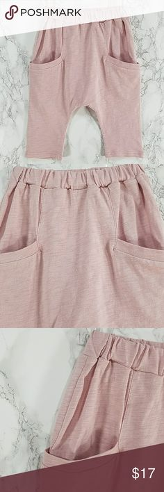 Light Pink Harem pants Short. Kids Adorable light pink harem pants shorts. Have pockets, pull up style.  This item is brand new and never used. Bottoms Sweatpants & Joggers