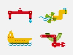 Industrial icons by Maria Kokko