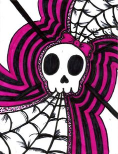 girly skull by disenchanted7 on