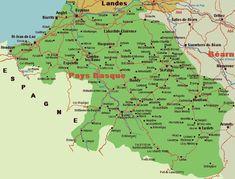 carte de france pays basque
