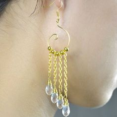 Look for diy chain link dangling earrings for wedding? Today, I will share you how to make gold chain link earrings. The result will be fab!