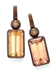 Hemmerle. A Pair of Topaz and Diamond Ear Pendants, by Hemmerle. Available exclusively at FD.   www.fd-inspired.com