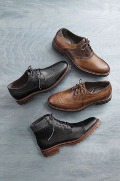 Between Seasons: A sure-footed lug sole is smart with any outfit, in any weather.