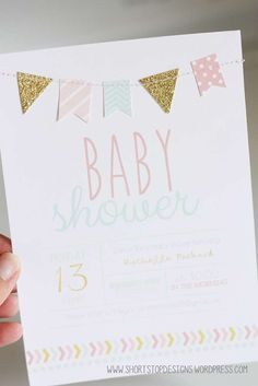 Mint, Pink & Gold Baby Shower Baby Shower Party Ideas | Photo 1 of 14