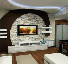 15 Quick Tips Regarding Living Room Modern Tv Wall Design Wall Unit Designs, Living Room Tv Unit Designs, Tv Wall Design, Ceiling Design, Living Room Partition Design, Living Room Sofa Design, Tv Cupboard Design, Gypsum Design, Tv Wanddekor