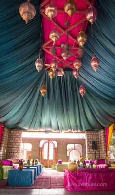 Here's a Moroccan themed lounge bar we did at a wedding reception recently at the Tamarind Tree, Bangalore, India. #IndianWeddings #WeddingPlanner