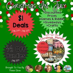 Christmas in July Giveaway & Sales | Differentiation Station Creations