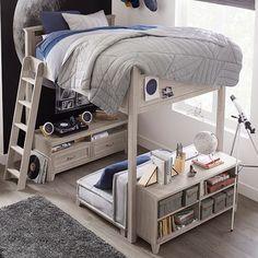 Hampton Convertible Loft Bed #pbteen