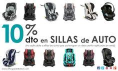 """10% Dto En TODAS las Sillas de Auto de nuestra página web: www.elhogardelbebe.com. (válido del 25/03/2014 al 31/03/2014)  Introduce el código """"Auto10"""" cuando efectúes la compra y se te aplicará el descuento.  (no aplicable a sillas de auto que ya tengan un descuento aplicado en web)  Suscríbiros a nuestro newsletter en facebook.com/elhogardelbebe y os llegarán fácilmente todas las promociones a vuestro correo!"""