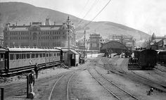 (Image: South African Railways  Harbours Publicity  Travel Department, public domain)  Cape Town Railway Station, Western Cape, South Africa – pictured in 1896, Cape Town railway station is a far cry from the modern structure. In 1997, the historic Blue Train was refurbished and relaunched, providing luxury transport between Cape Town and Pretoria.