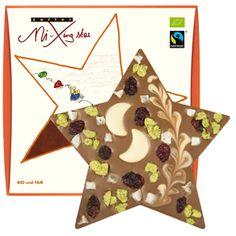 zotter Schokoladen Manufaktur: Weihnachtsstern VEGAN mit Kokosmonden
