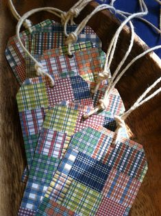 Preppy / Plaid / Madras / Multicolor / by nshebertPaperCrafts, $2.00